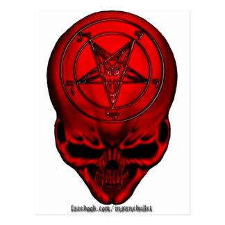 penta skull postcard
