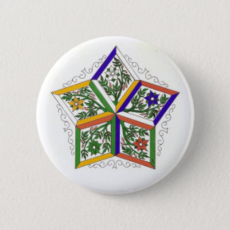 Penta-Star In Flowers Pin