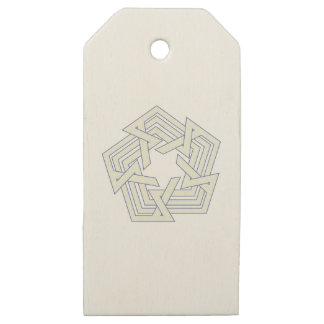 Penta Wooden Gift Tags