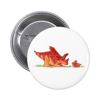 Pentaceratops and Toy Pinback Button