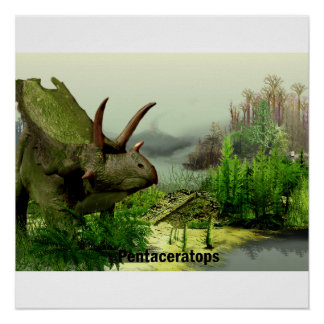 pentaceratops colorized poster