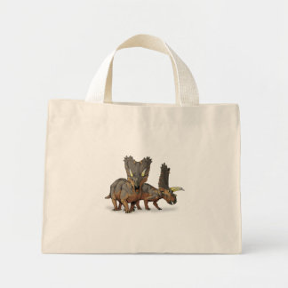 Pentaceratops - Late Cretaceous Dinosaur Canvas Bag