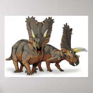 Pentaceratops - último dinosaurio cretáceo póster
