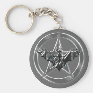 Pentacle Bat Keychain