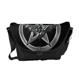 Pentacle Bat Messenger Bag