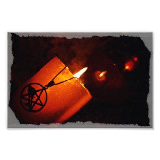 pentacle candle art photo