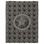 Pentacle Celtic Circle Fleece Blanket