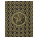 Pentacle Celtic Circle - gold/copilot by version Fleece Blanket