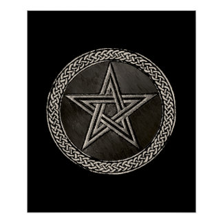 Pentacle Celtic Circle Poster