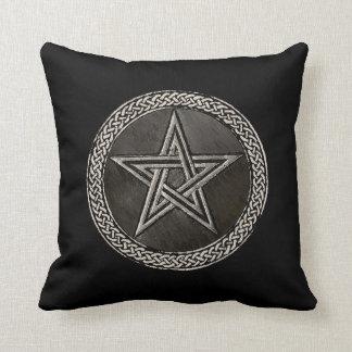 Pentacle Celtic Circle Throw Pillow