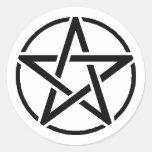 Pentacle Classic Round Sticker