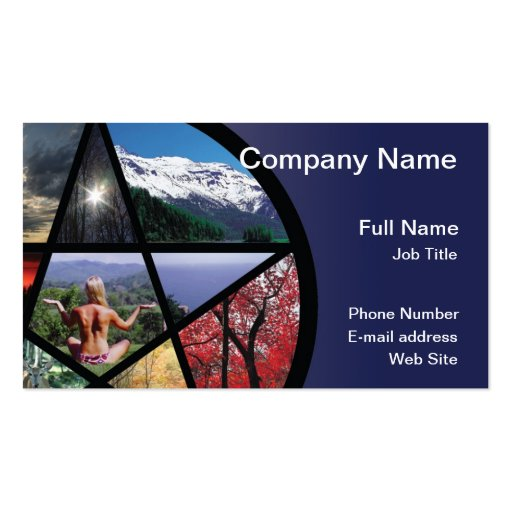 Pentacle Collage Business Card