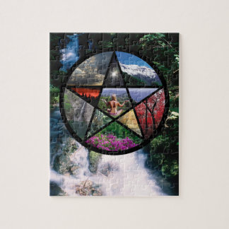 Pentacle Collage Jigsaw Puzzle