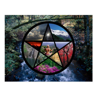 Pentacle Collage postcard