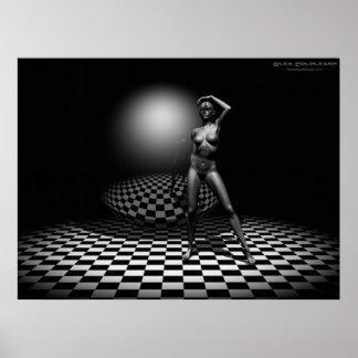 Pentacle delusion 3d art digital poster