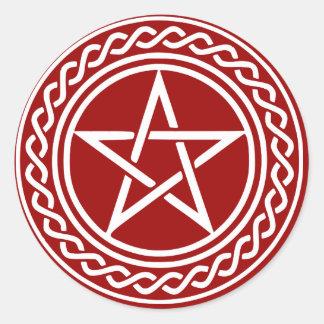 Pentacle Design Classic Round Sticker