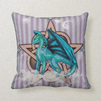 Pentacle Dragon Blue Pillow Cushion