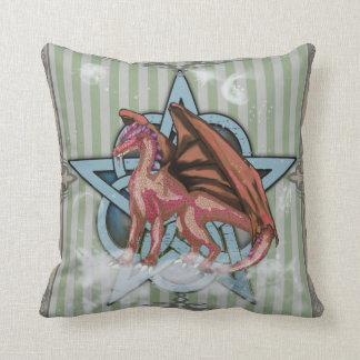 Pentacle Dragon Earth Pillow Cushion