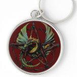 Pentacle Dragon Keychain