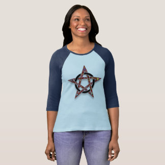 Pentacle Encircled Star Pagan or Wicca Jersey T-Shirt