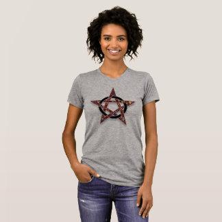 Pentacle Encircled Star Pagan Wicca Tshirt