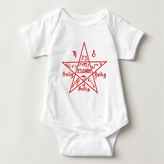Pentacle from the Sixth Book of Moses Baby Bodysuit