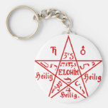 Pentacle from the Sixth Book of Moses Basic Round Button Keychain