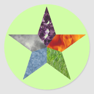 Pentacle - Green Stickers