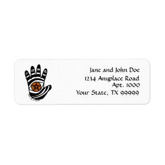 Pentacle Hand Return Address Label