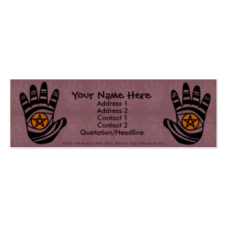 Pentacle Hands Profile Card Business Card Templates