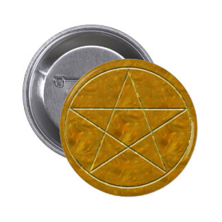 Pentacle in Gold Pin