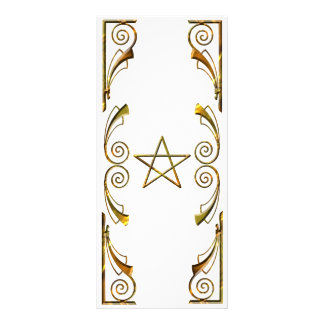 Pentacle in Gold Full Color Rack Card