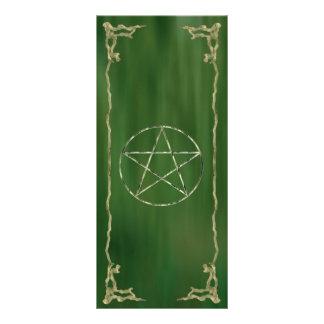 Pentacle in Green Rack Card Template