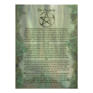 Pentacle in Wood Info Poster