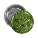 Pentacle in Wood Pin