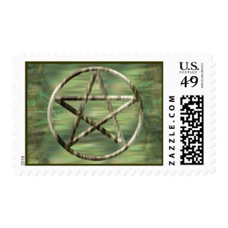 Pentacle in Wood Postage