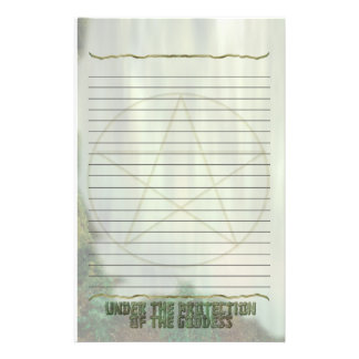 Pentacle, Lined, Protection of the Goddess Stationery
