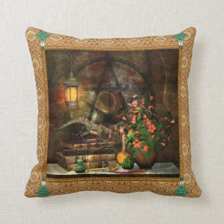 Pentacle Magic Dragon Both Sides Printed Throw Pillow