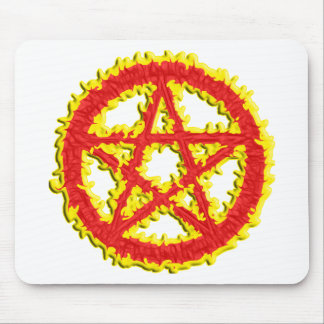 Pentacle of Fire Mouse Pad