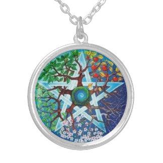 Pentacle of Seasons Personalised Necklace