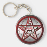 pentacle of solomon keychains