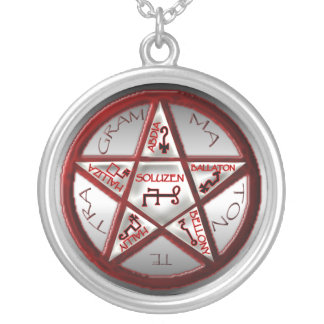pentacle of solomon round pendant necklace
