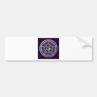 Pentacle Of The Purple Moon Car Bumper Sticker
