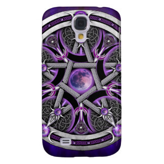 Pentacle Of The Purple Moon Galaxy S4 Cover