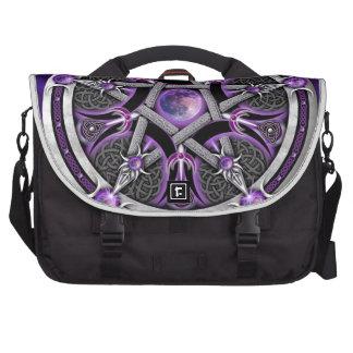 Pentacle Of The Purple Moon Laptop Messenger Bag