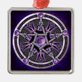 Pentacle Of The Purple Moon Metal Ornament