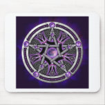 Pentacle Of The Purple Moon Mouse Pad