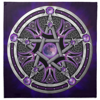 Pentacle Of The Purple Moon Napkin