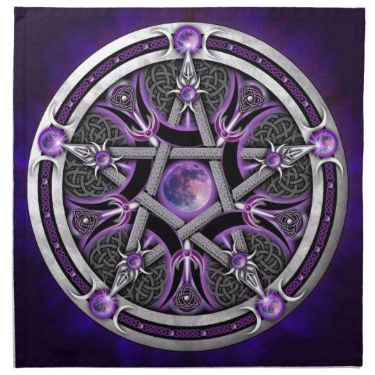Pentacle Of The Purple Moon Napkin