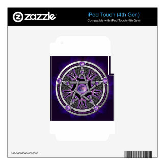 Pentacle Of The Purple Moon iPod Touch 4G Decals